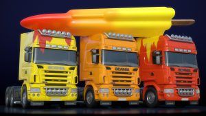 Scania truck ice lolly rocket