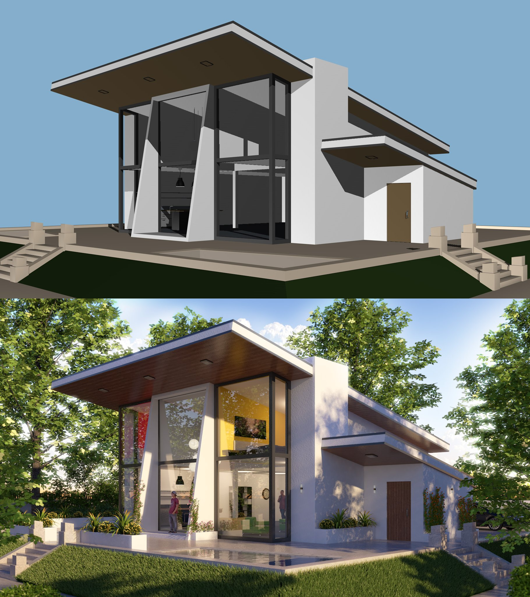 Cinema 4D R19 - Modern Exterior Architecture - Video Tutorial