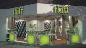 3D Fluff store front